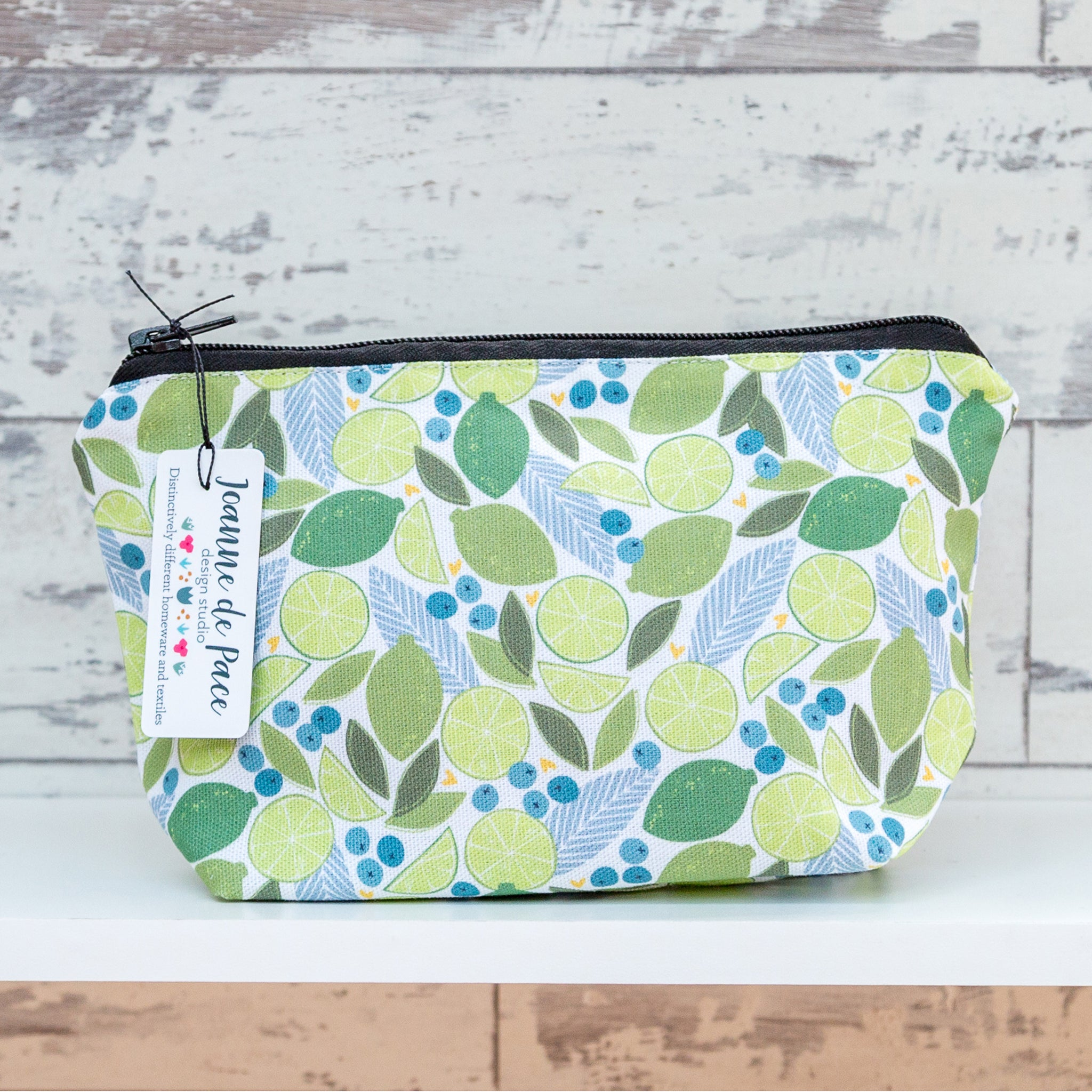 'Lime & Juniper Berry' Cosmetic Bag