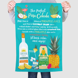 'The Perfect Pina Colada' Tea Towel