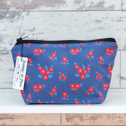 'Red Daisy' Cosmetic Bag