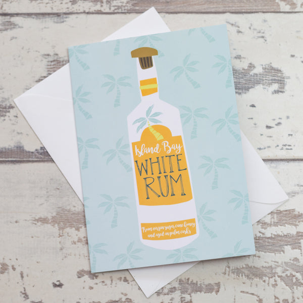 'Rum Bottle' Greeting Card