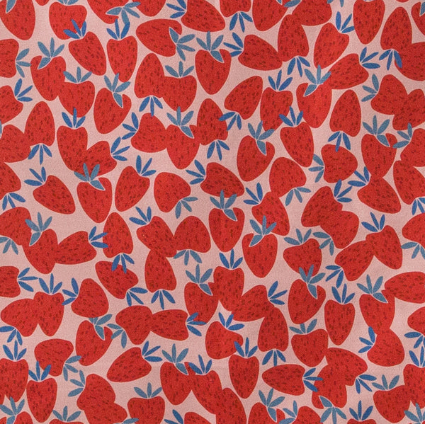 'Strawberry Pattern' Tea Towel