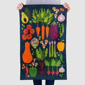 'Vegetable Patch' Tea Towel