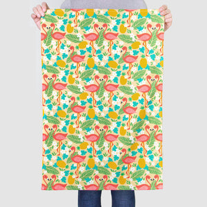'Flamingo Pattern' Tea Towel