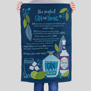 'The Perfect Gin and Tonic Recipe' Tea Towel