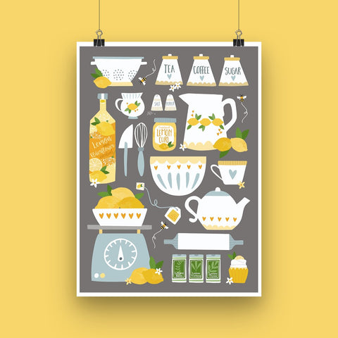 Lemon Kitchen Art Print