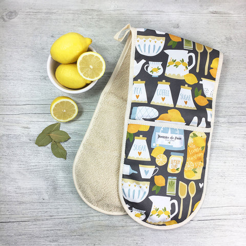 Lemon Kitchen Oven Gloves
