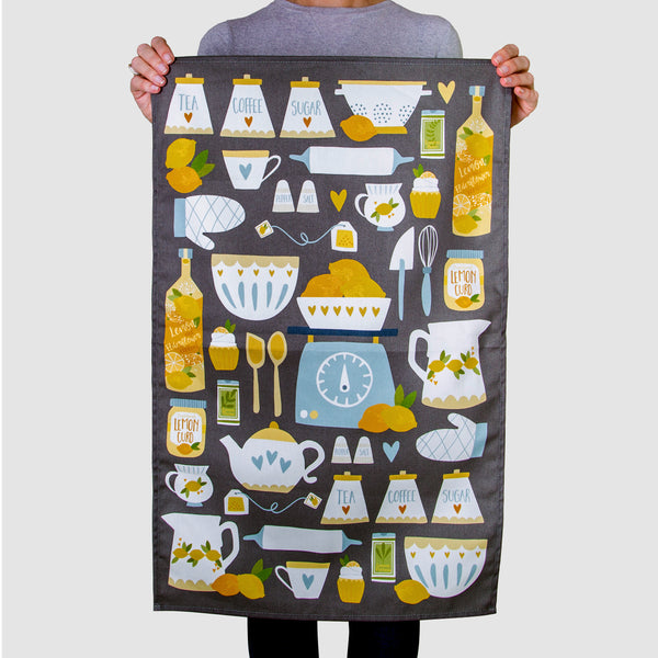'Lemon Kitchen' Tea Towel