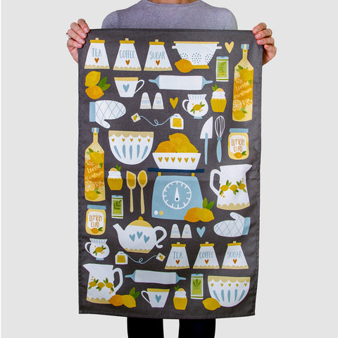 Lemon Kitchen Tea Towel