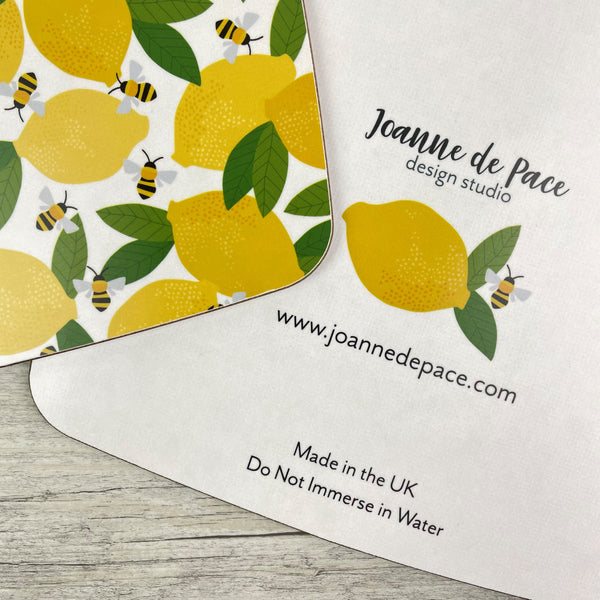 'Lemons & Bees' Kitchen Board