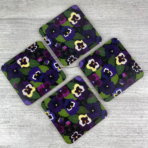 'Pansy Pattern' Coasters (Set of 4)