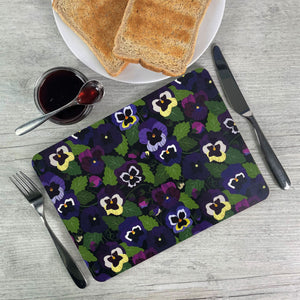 'Pansy' Placemats - Set of 4