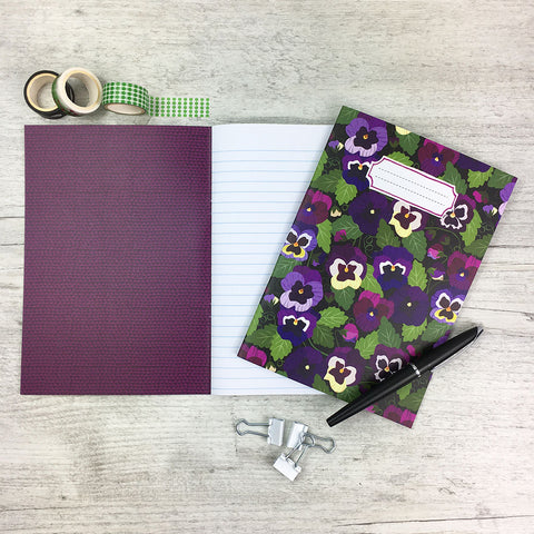 Pansy Pattern Notebook