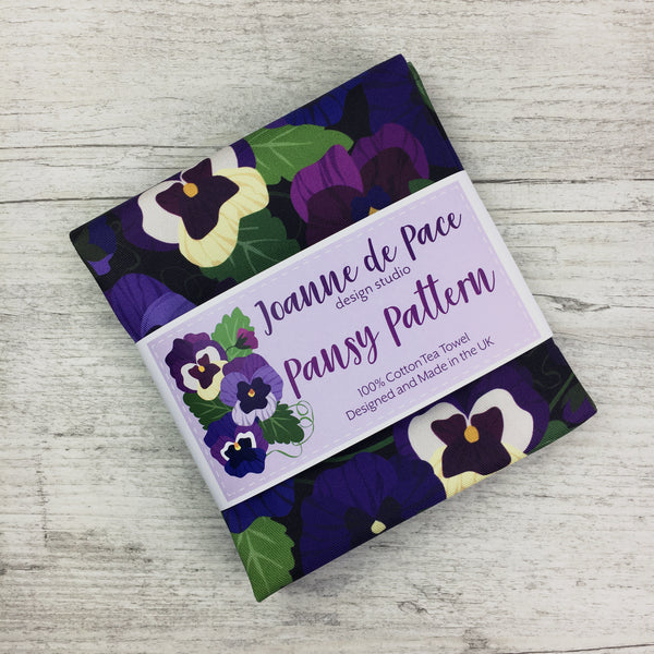 'Pansy Pattern' Tea Towel
