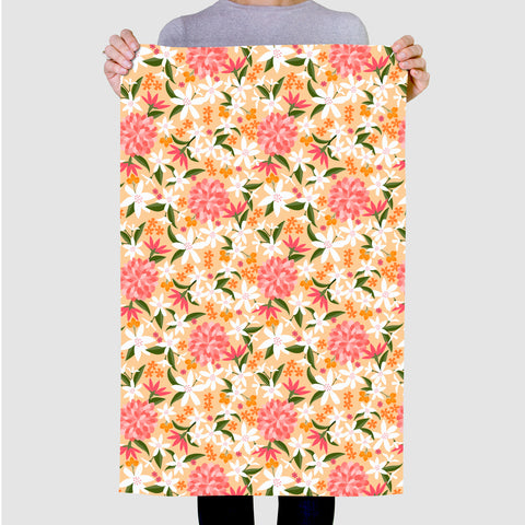 Peach Blossom Pattern Tea Towel