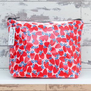 'Strawberry' Oilcloth Wash Bag