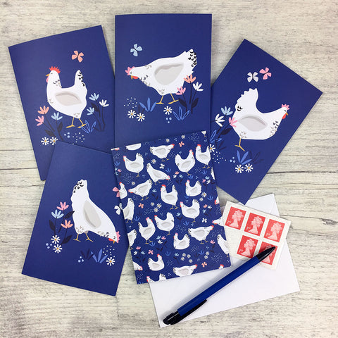 Sussex Hens Greeting Cards