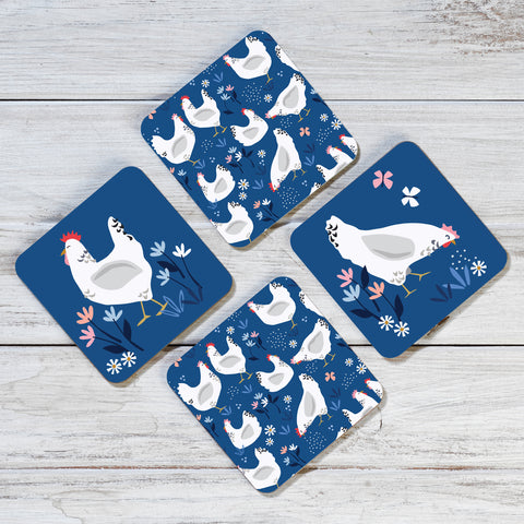 Sussex Hens Coasters