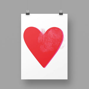 'Red Heart' Art Print