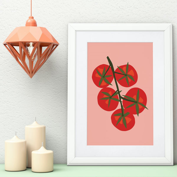 'Tomatoes On the Vine' Art Print