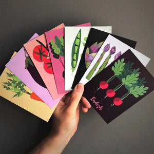 Vegetable Patch Postcard Set