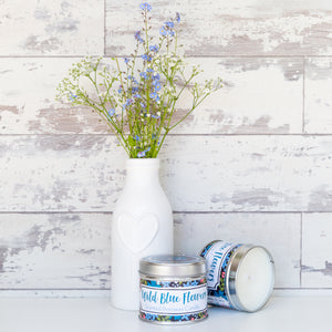 Wild Blue Flowers Beeswax Candle