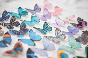 Handmade silk butterfly wedding hair clips