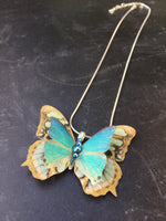 Flutter Designs handmade silk butterfly necklace