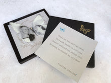 Silk Memory Butterfly in its premium gift box with a gift card by Flutter Designs