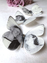 Silk Butterfly personalised with the image of your choice by Flutter Designs, with a  plain finish.