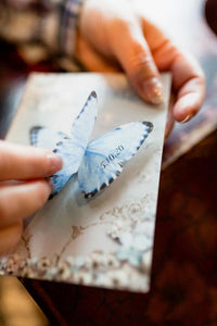 Something Blue personalised wedding butterfly.