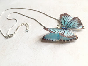 Silk Butterfly necklace by Flutter Designs