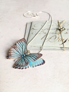 Butterfly necklace with Swarovski Crystals