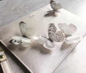 Handmade silk and crystal butterfly hair clips by Flutter Designs