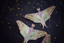 Spanish Moon Moth hair clips with Swarovski Crystals