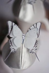 Wedding shoes with silk butterfly shoe clips