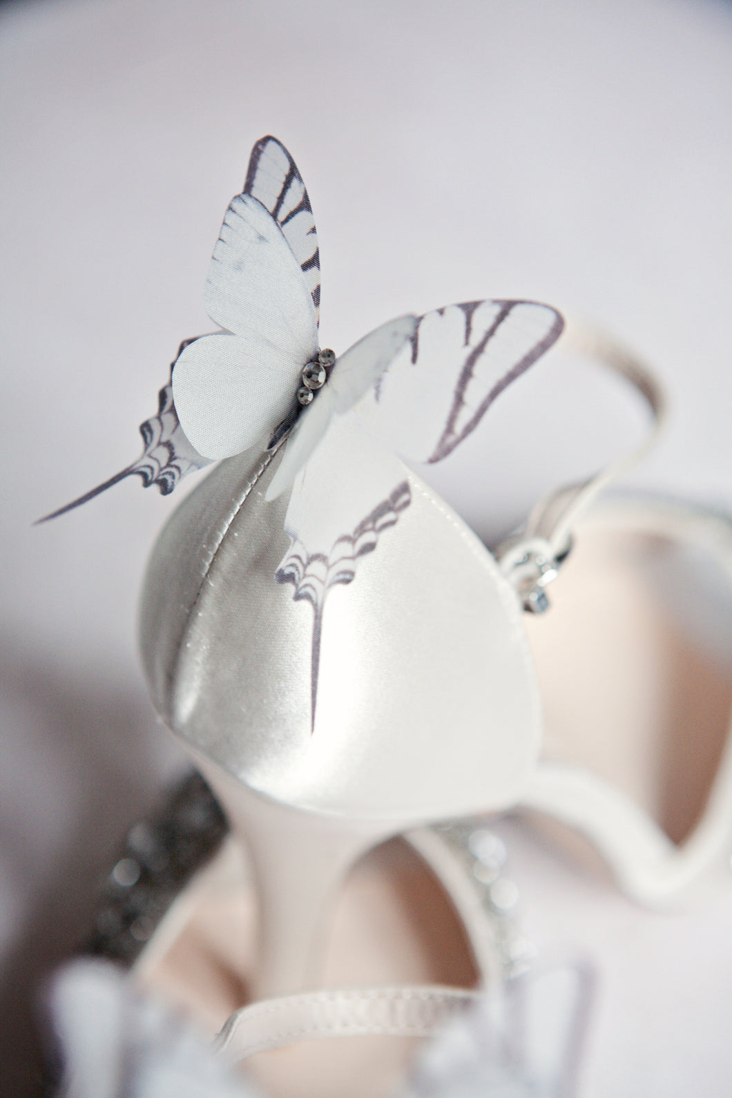 Butterfly shoe clip on wedding heels