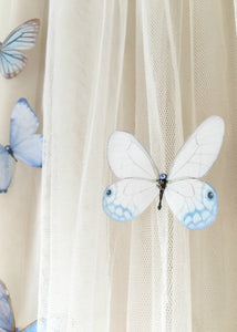 Something Blue silk butterfly by Flutter Designs