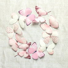 Pink silk Butterfly embellishments for crafts