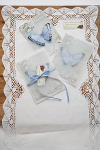 Silk wedding butterfly gift packages by Flutter Designs