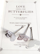 Silk butterfly hair pins for a bride