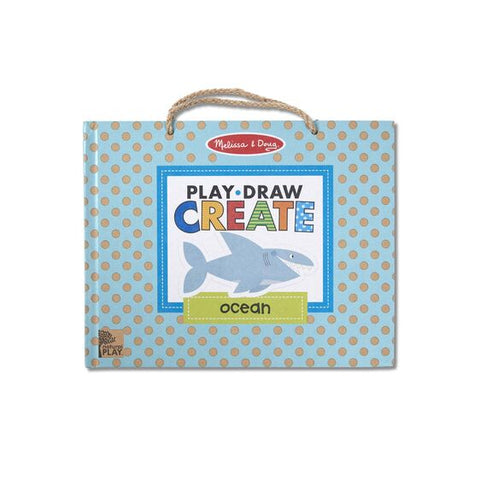 Natural Play: Play, Draw, Create Reusable Drawing & Magnet Kit - Ocean