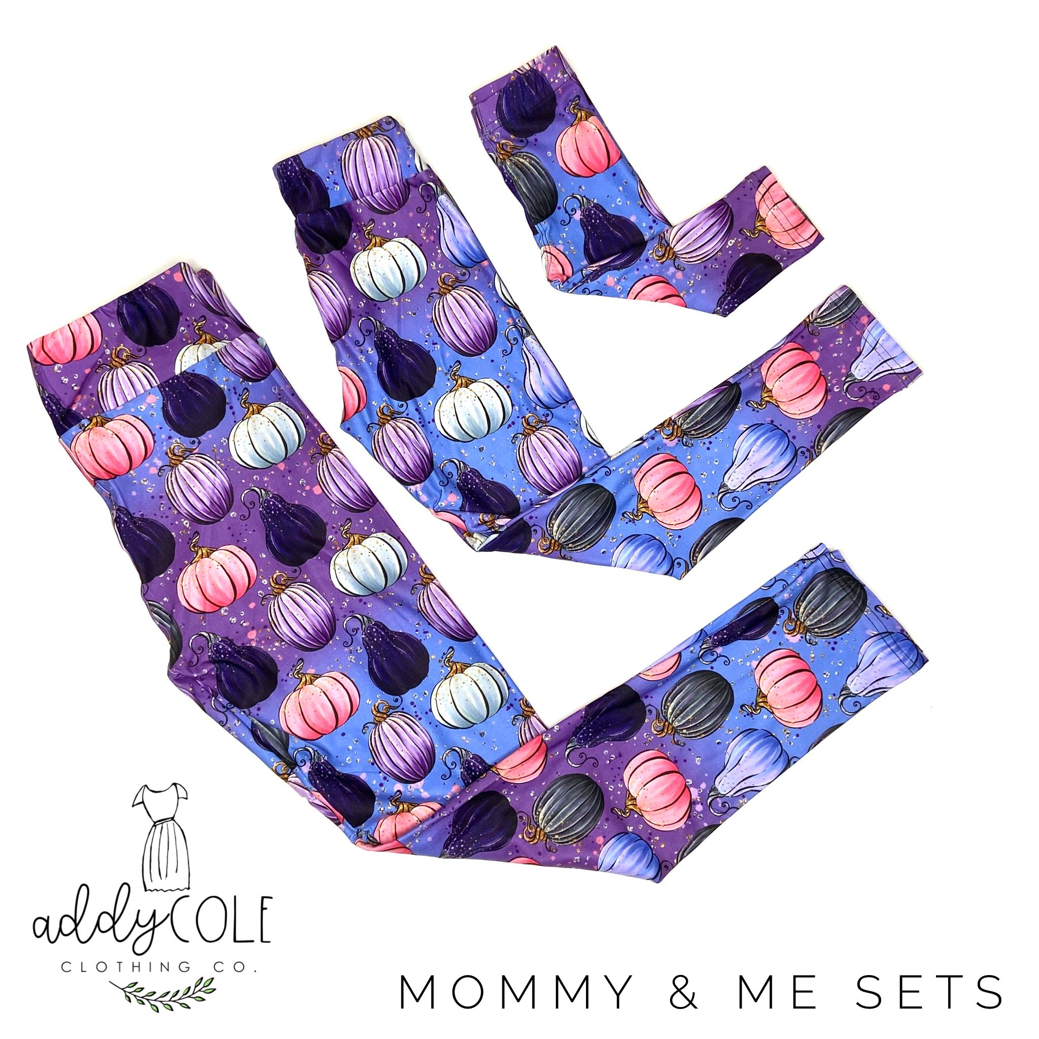 Mommy & Me Princess Pumpkin Leggings