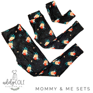 Mommy & Me Spider Web Floral Leggings