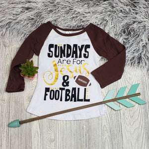 Jesus and Football raglan