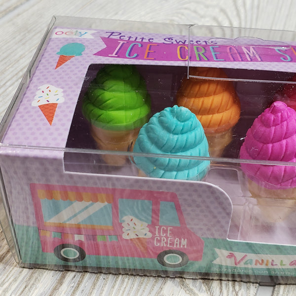 Ooly - petite sweets ice cream shoppe scented erasers