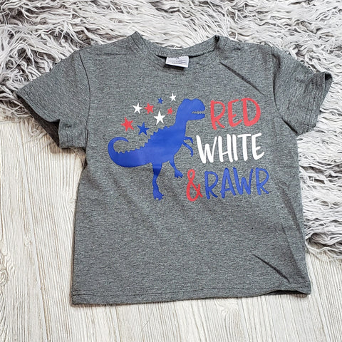 Red, White, and Rawr Tee