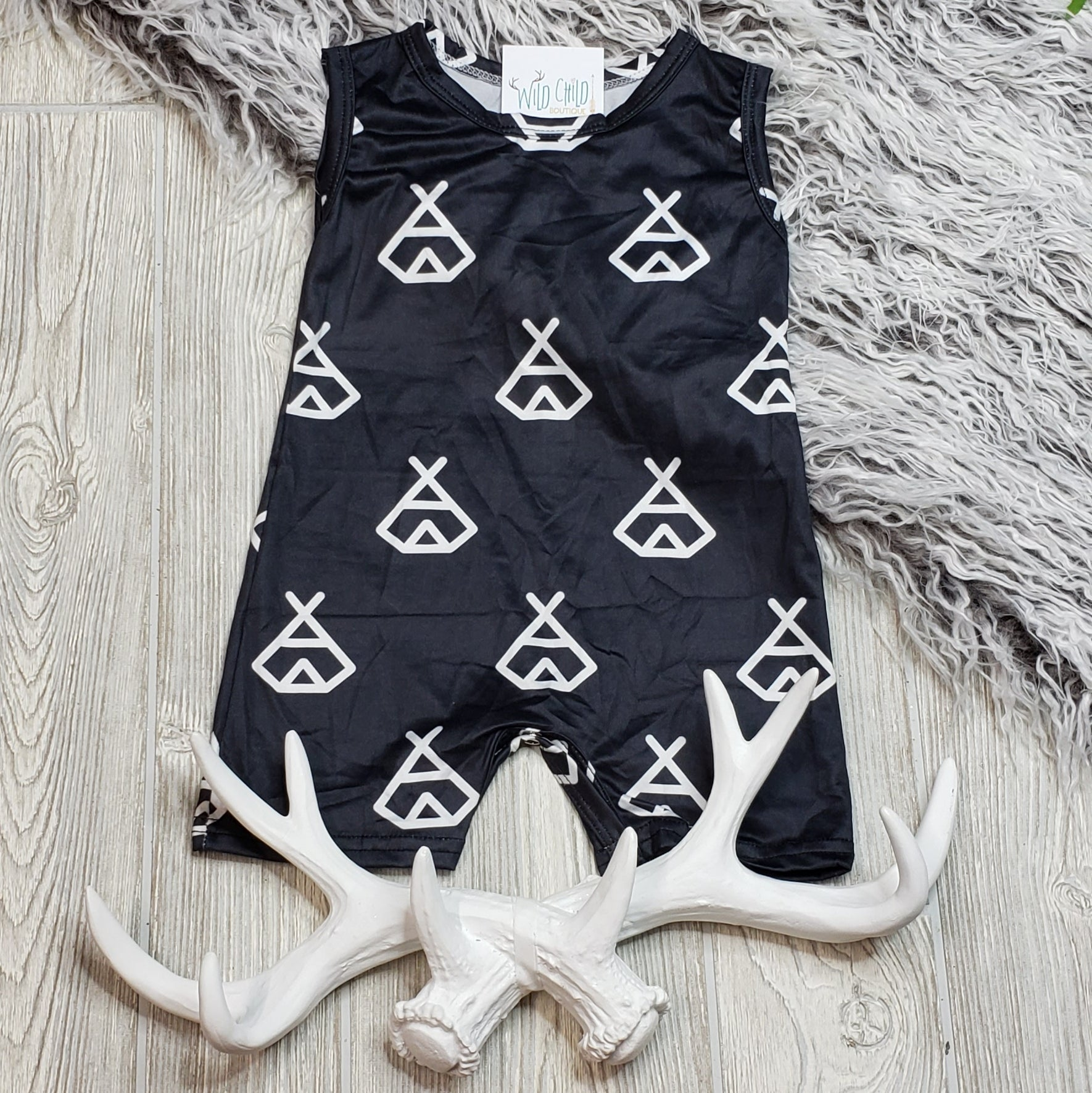 Black TeePee Shorty One Piece