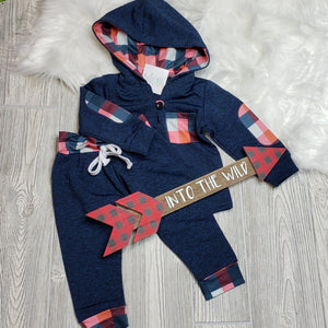 Blue Plaid Hoodie Outfit
