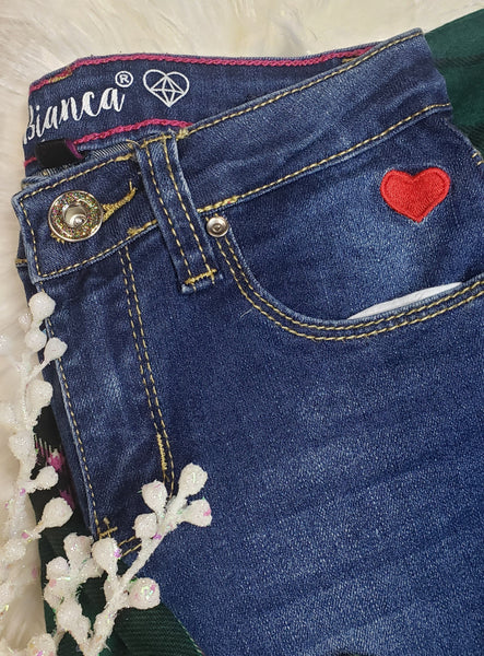 Sweetheart distressed jeans