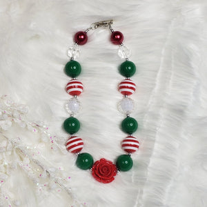 Holiday Rose Necklace